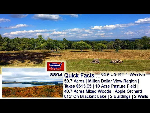 Maine Real Estate | Nearly 51 Acres Of ME Land On Lake MOOERS REALTY #8894