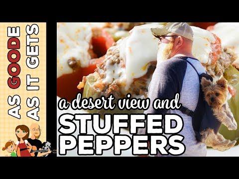 Crockpot Stuffed Peppers // Desert View in Grand Canyon, AZ // RV Living