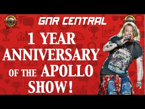 Guns N' Roses: One Year Anniversary of the Apollo Show (Appetite for Destruction Anniversary Sirius)