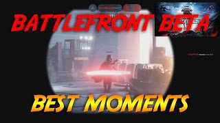 STAR WARS Battlefront Beta Best Moments [ Face Reveal ] [ PC Gameplay ]
