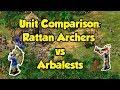 Rattan Archers vs Arbalests