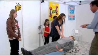 citv tricky tv wicked wind ups prank cpr dummy bill comes alive during resuscitation demonstration