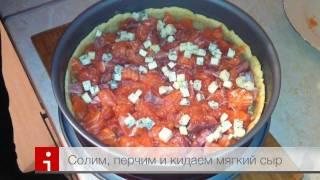 Рецепт - лоранский пирог с семгой и сыром