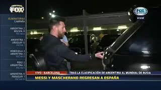 Messi llegó a España tras clasificar a Rusia