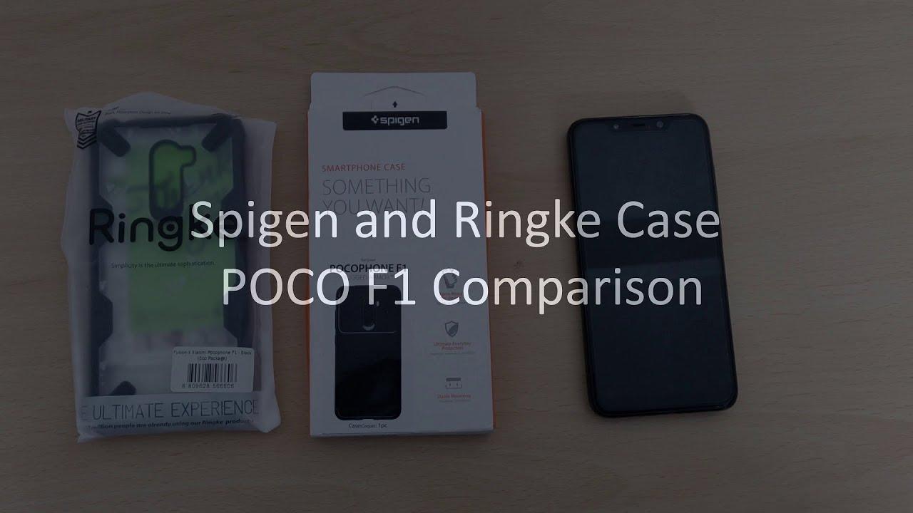 wholesale dealer f8899 e34cf POCO F1 Case Comparison | SPIGEN Rugged Armor vs RINGKE FUSION X |  Pocophone F1 | Unboxing, Review