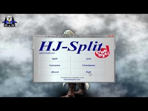 Unir Archivos .001,.002,etc - Bajar y Usar el HJSPLIT  free Download :popular-software.com