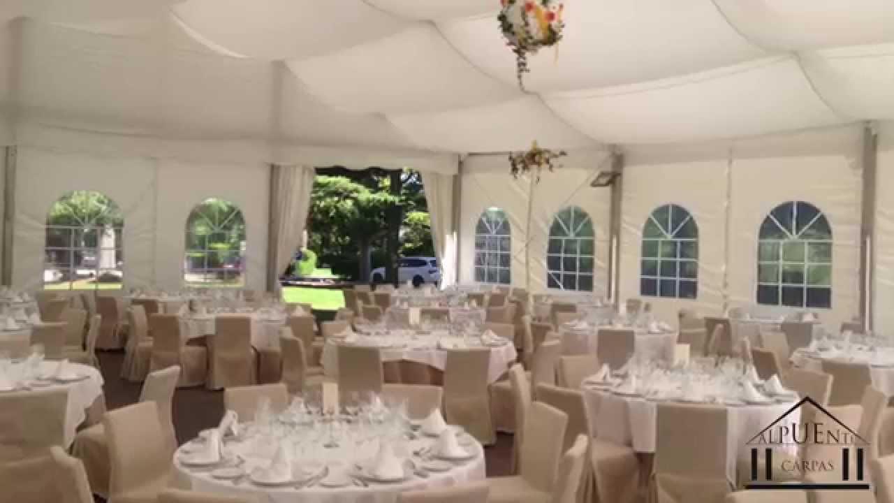 Carpas para bodas carpas alpuente youtube - Decoracion de carpas para bodas ...
