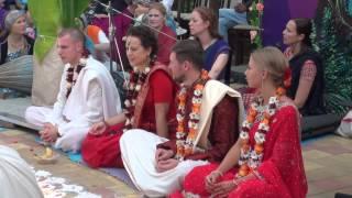 Ведическая свадьба (Виваха ягья). Наташа и Денис, Иван и Люба. Сочи 2015