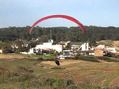 Paraglider At Punta Ballena, Uruguay