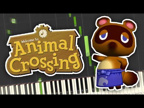 Animal Crossing - Nook's Cranny Theme Piano Tutorial Synthesia