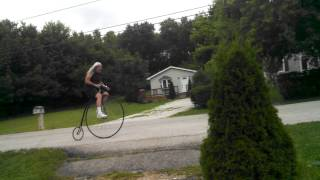 Bone Shaker Bicycle Ride Penny Farthing High Wheel Bike 1880 to 2014 Brunswick Oh kingdragrace