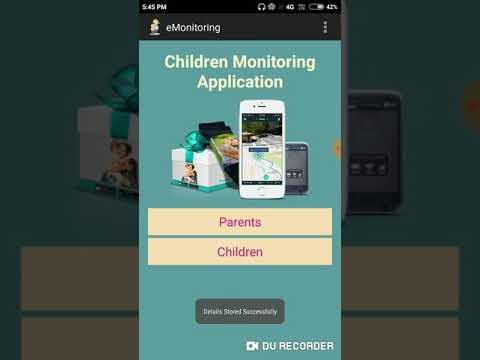 Android based Children Monitoring Application, Children Tracking, Android Child Tracking System