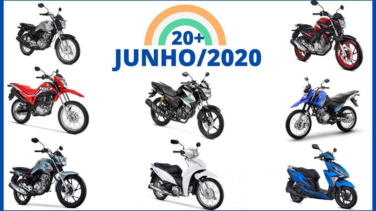 20 Motos MAIS Vendidas em JUNHO de 2020