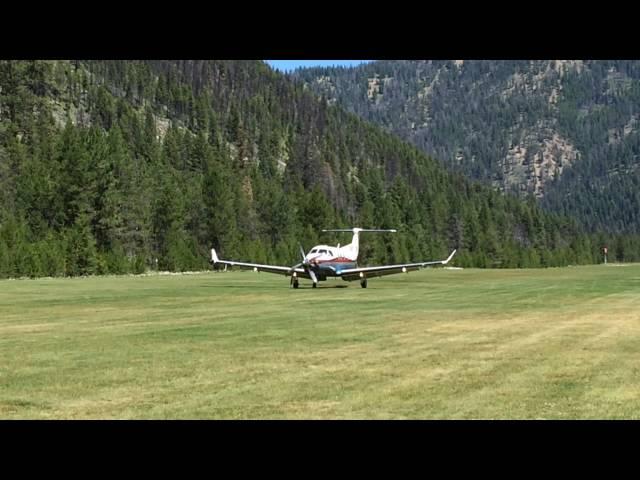 PC-12 Landing at Johnson Creek Airstrip