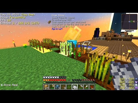 Minecraft - Project Ozone 2 #5: AgriCraft Farming