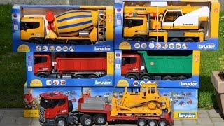 BRUDER Toys 5 Scania Truck Family
