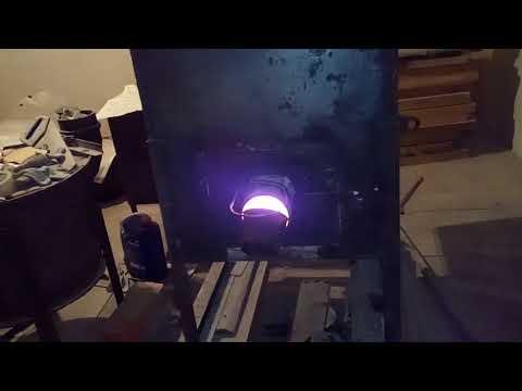 новый регулятор тяги, провожу очередной эксперимент по пиролизу древесины