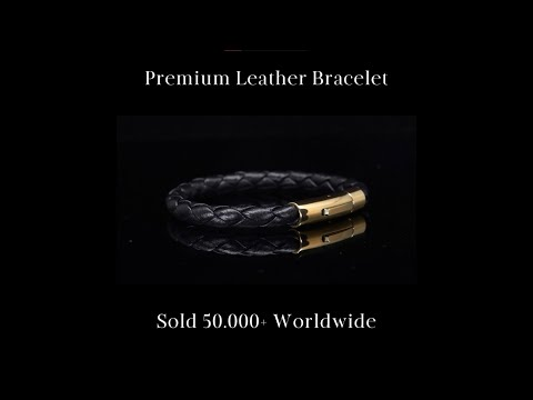 Sorcery's Men Leather and Steel Bracelet Collection With Finest Material and Real Gold Plating.