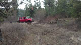 F700 6x6 going off road a little
