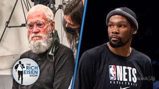 Hold On!! David Letterman Was Asking Kevin Durant Questions at Nets Media Day??? | Rich Eisen Show