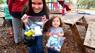 HELPING THE HOMELESS AND PLAYING AT THE PARK