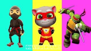 who is better? subway surfers ninja vs ninja turtles vs my talking tom hero ?