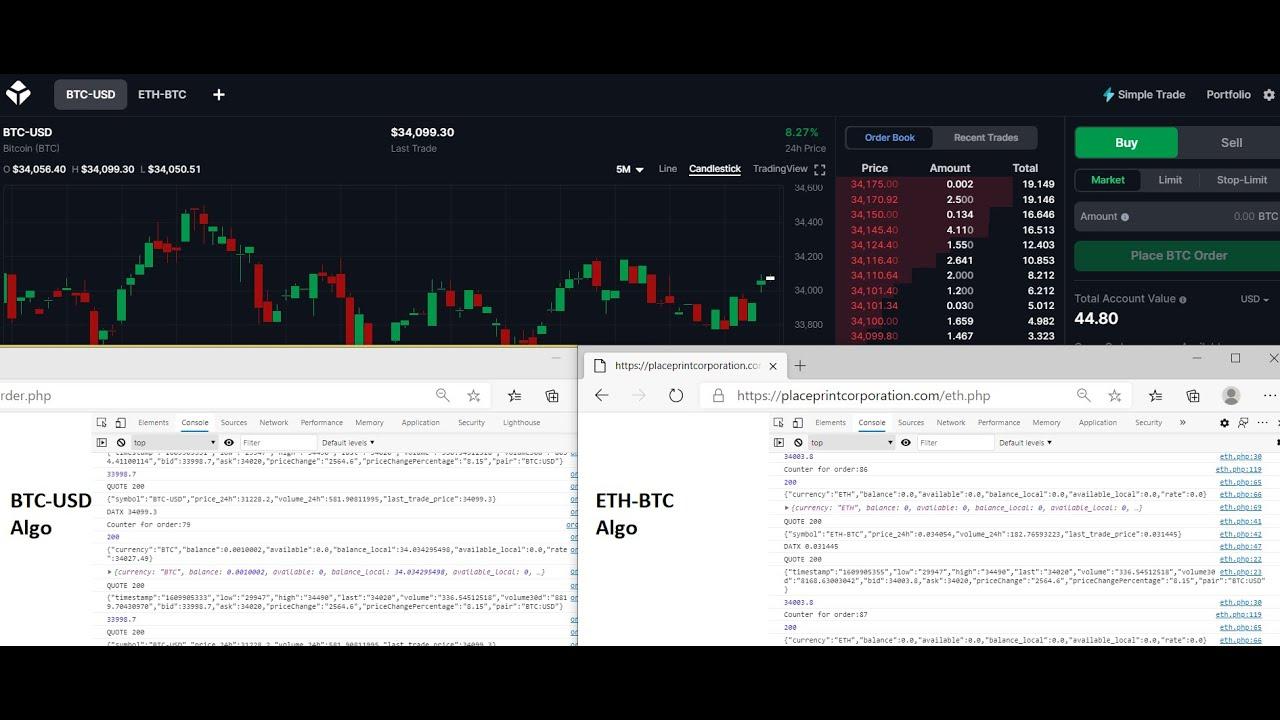 algo trader bitcoin)