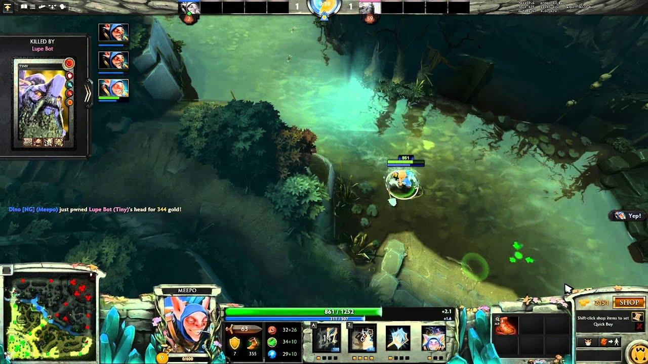 spawn a live clone as dead meepo dota 2 youtube