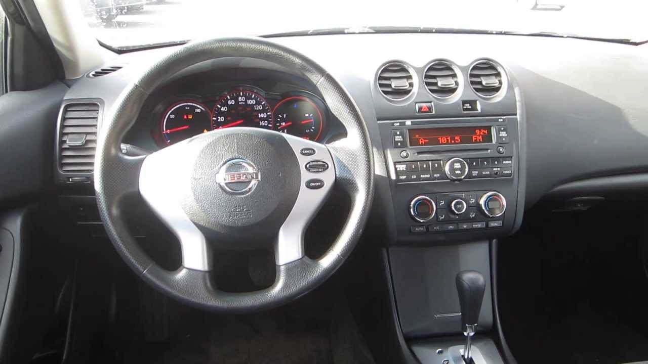 2008 Nissan Altima Black Stock 29628a Interior