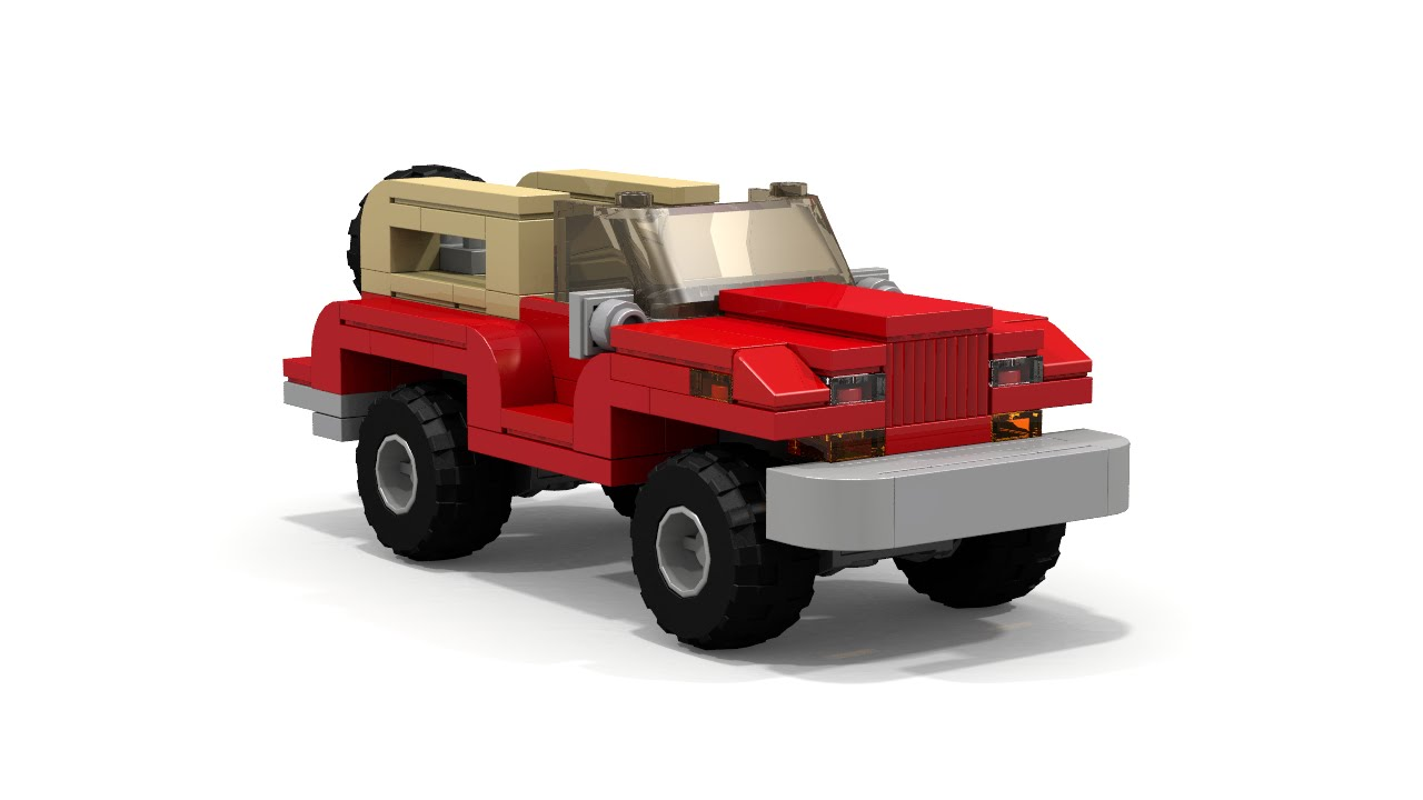 Lego Jeep Moc Tutorial Youtube