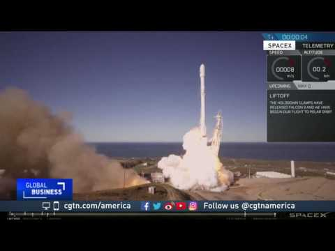SpaceX launches first recycled rocket booster