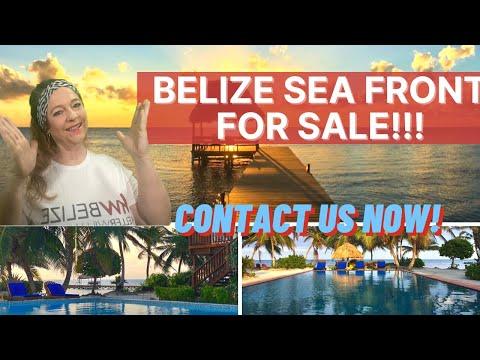 Belize Caribbean Sea Front Villa On San Pedro Ambergris Caye Island Belize