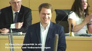 "Christopher Vogt zu TOP20 ""Parität in Parlamenten"""
