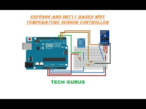 Arduino ESP8266 and DHT11 WIFI Temperature sensor