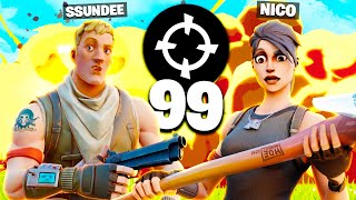 Playing ARENA on our *SECRET* Bot Accounts.. (Fortnite) w/ SSundee