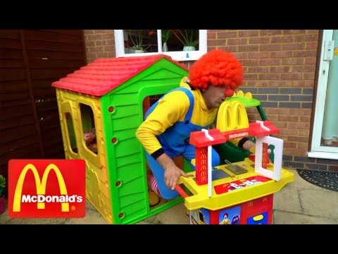 McDonald's Drive Thru with  Kitchen Toy Playset
