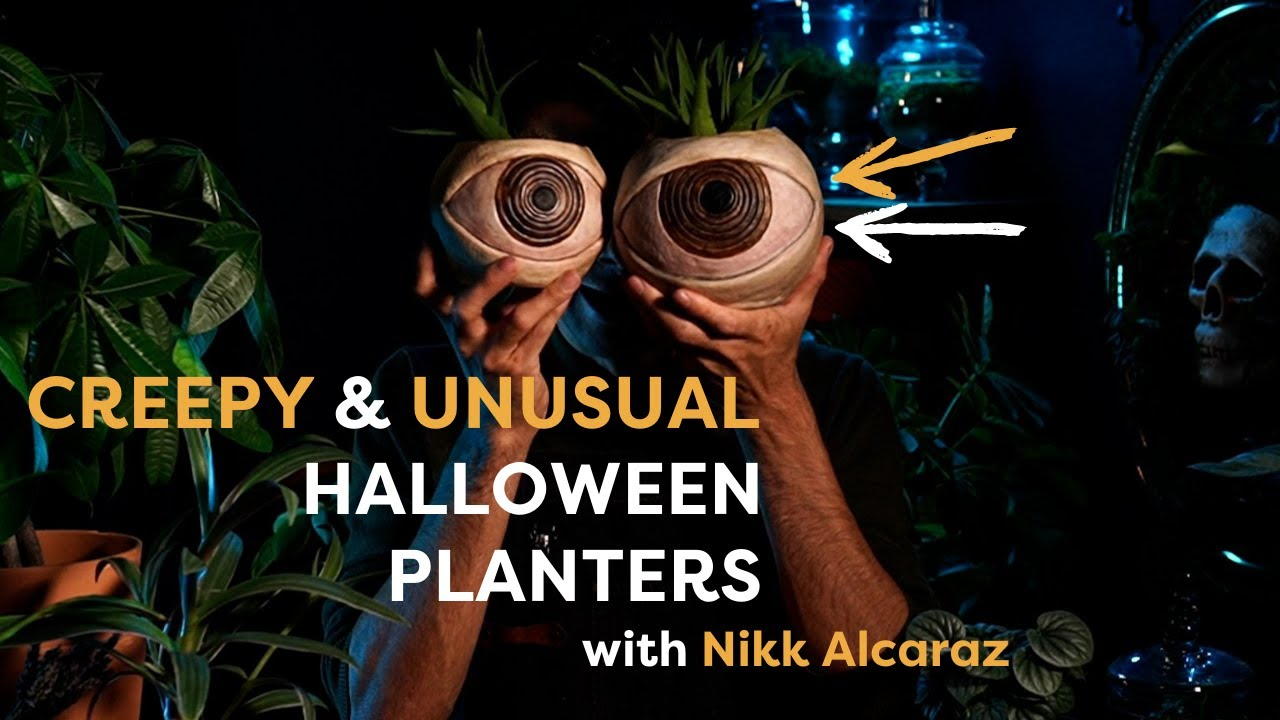 Download Make These Creepy, Peculiar Halloween Planters With Nikk Alcaraz   DIY Halloween Decoration Ideas