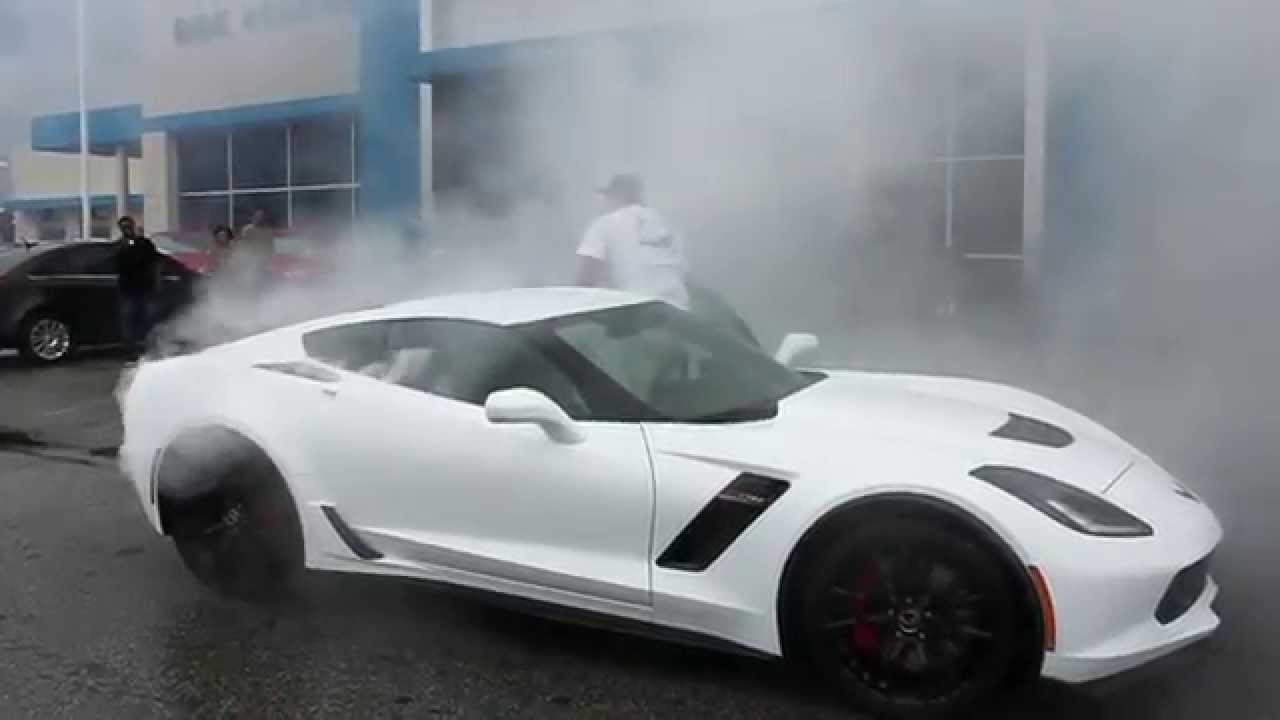 2015 C7 Z06 Dealership Delivery Burnout Vengeance Racing