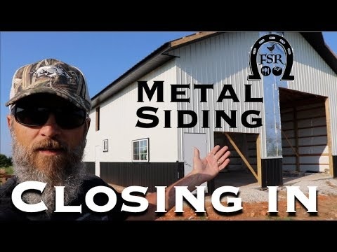 closing-in-the-barndominium.-metal-siding,-in-laws,-tractors-and-a-tack-box