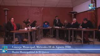 Concejo Municipal Miércoles 08 de Agosto 2018