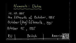 Числительное - как называть даты