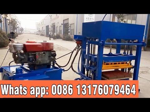 QT4 -30 diesel engine hydraulic block making machine
