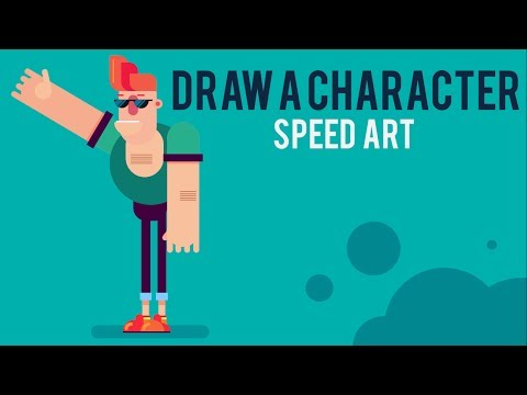How to draw flat characters in PowerPoint - Speed Art