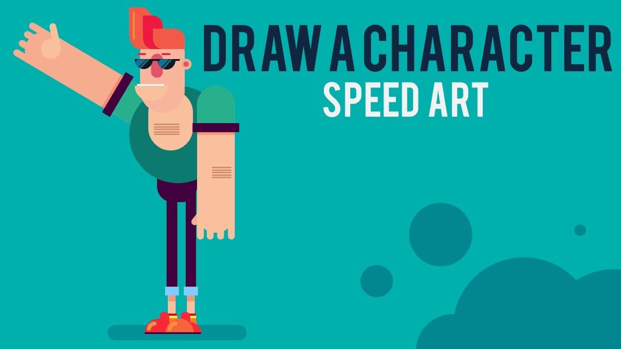 How to draw flat characters in powerpoint speed art youtube how to draw flat characters in powerpoint speed art toneelgroepblik Images