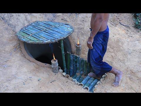Secret Underground Bamboo House