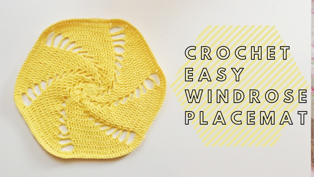 Crochet Easy Windrose Placemat / Sousplat