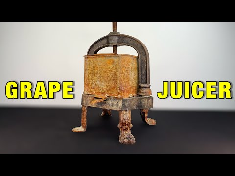 GRAPE JUICER WITH LION LEGS - RESTORATION (with test)