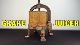 RUSTED GRAPE JUICER WITH LION LEGS - RESTORATION (with test)