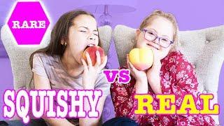 RARE SQUISHY FOOD vs REAL FOOD CHALLENGE