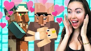 Making VILLAGER BABIES in my SECRET BASE! (Minecraft)